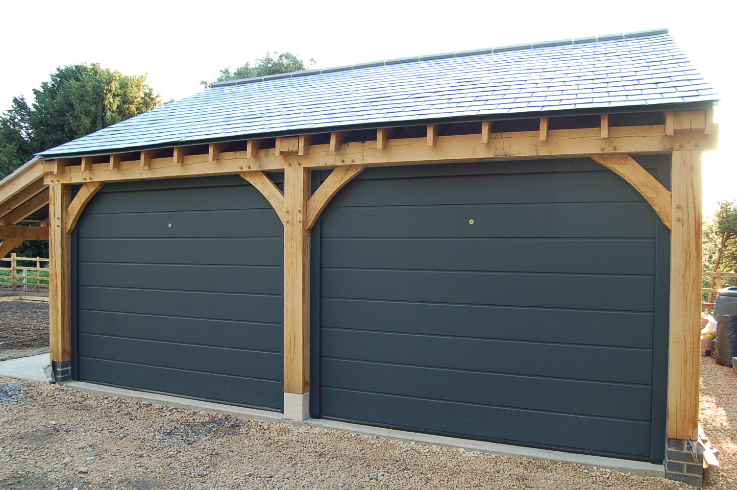 This is how to finish your oak cartshed fenland for Garage door finishes