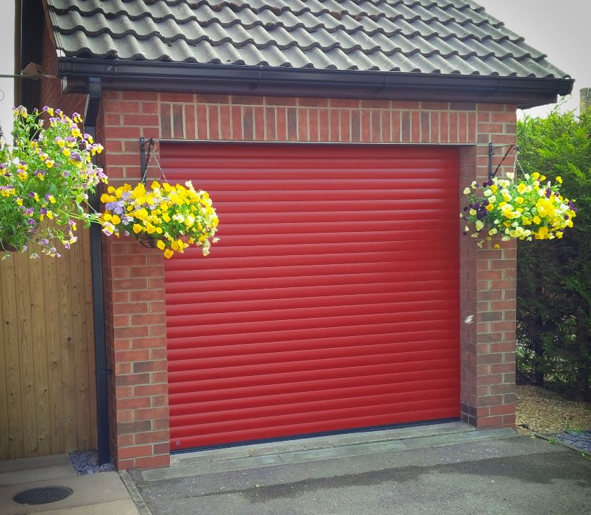 Hormann Rollmatic Garage Door In Ruby Red Milton
