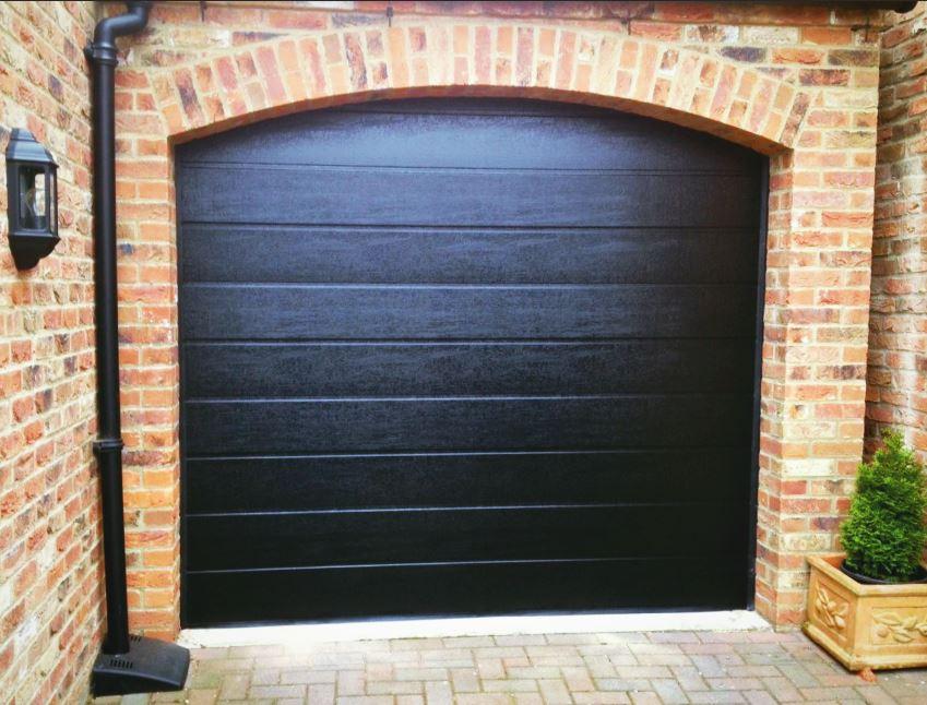 Jet Black Hormann Sectional Garage Door Swavesey